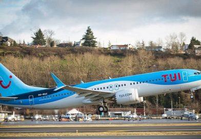 Boeing737 MAX de TUI fly Belgium