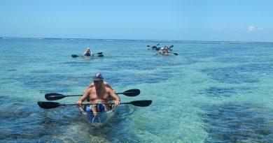 Paseo en kayak transparente en la Isla de la Reunión